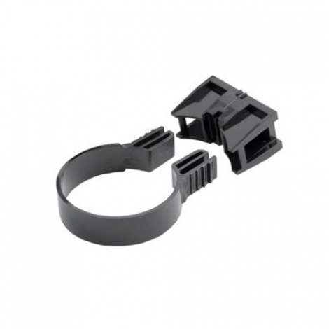 Wickes Adjustable Downpipe Clip Blk Pk 10