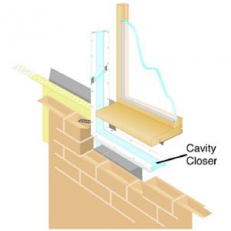 Wickes Cavity Closer 2.5m Pack 6