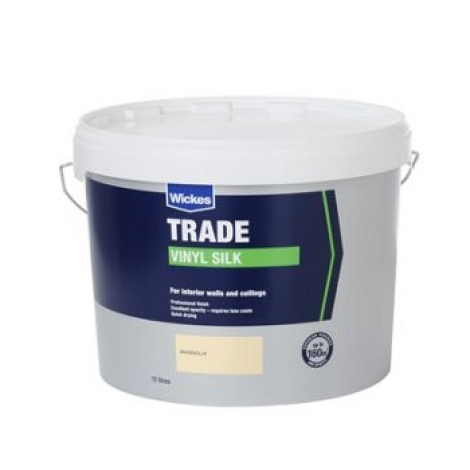 Trade Vinyl Silk Emulsion Paint Magnolia 10L