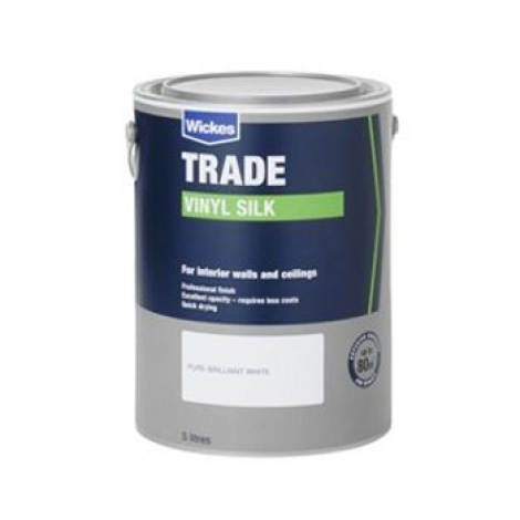 Trade Vinyl Silk Emulsion Paint Pure Brilliant White 10L