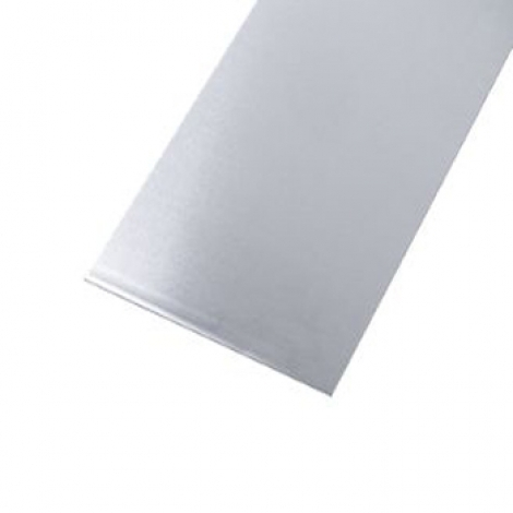 Metal Sheet Aluminium with Stainless Steel Effect Finish 300 x 1000mm