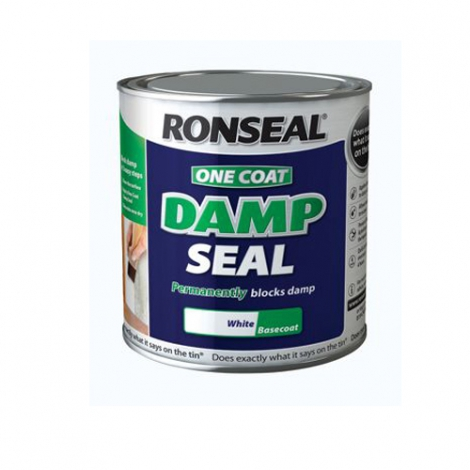 Ronseal One Coat Damp Seal Basecoat White 2.5L