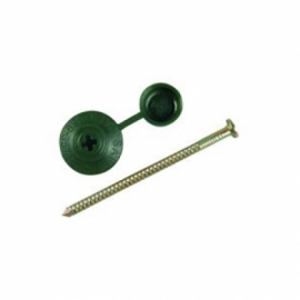 Wickes Profile Sheeting Nails 70mm Green PK100